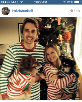 Kristin Bell and Dax Shepard Instagram